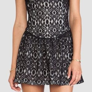 Bianca Short Sleeve Lace Dress With Cut Out Back